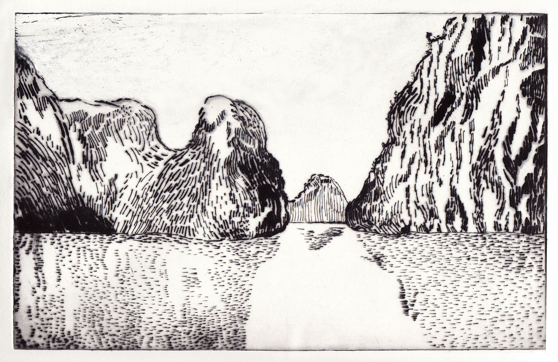 Ha long bay gravure pointe seche christine cabirol 2016