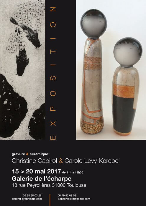 Exposition cabirol levy kerebel galerie echarpe toulouse mai 2017